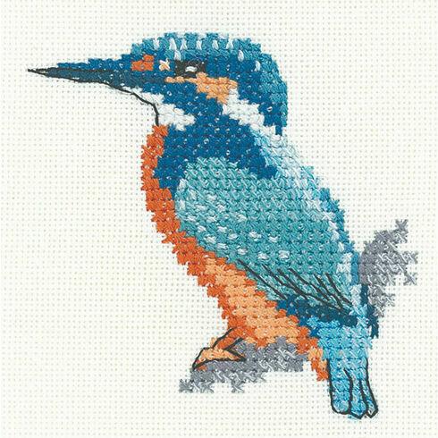 Little Friends - Kingfisher Cross Stitch Kit