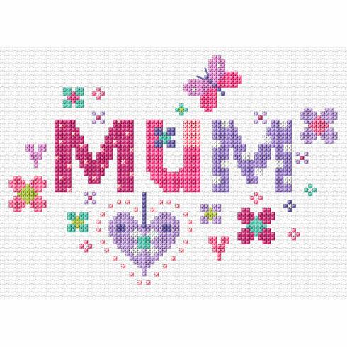 Floral Mum Cross Stitch Kit