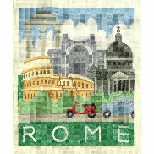 Rome Cityscapes Cross Stitch Kit