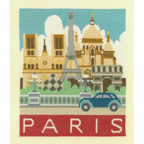 Paris Cityscapes Cross Stitch Kit