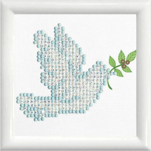 Dove Of Peace With Frame Diamond Dotz Kit