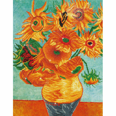 Sunflowers (Van Gogh) Diamond Dotz Kit