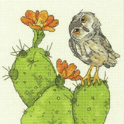 Prickly Owl Cross Stitch Kit