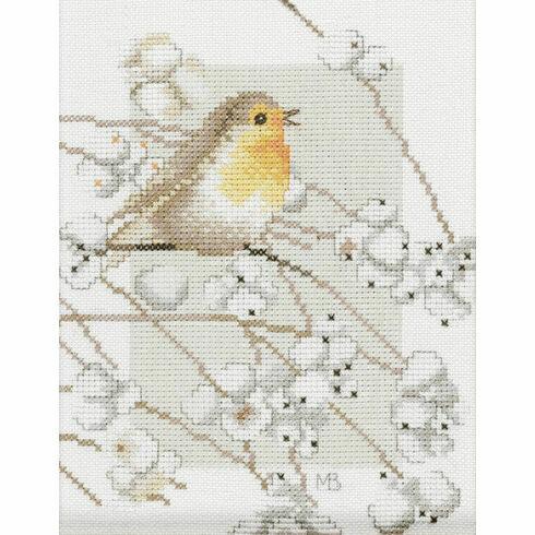 Robin On Branch Cross Stitch Kit
