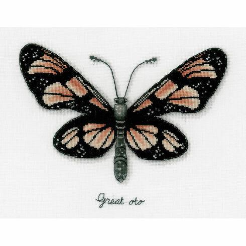 Orange Butterfly Study Cross Stitch Kit
