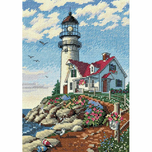 Beacon At Rocky Point Cross Stitch Kit
