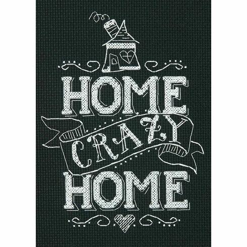 Home Crazy Home Cross Stitch Kit