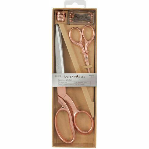 Rose Gold Scissors Gift Set