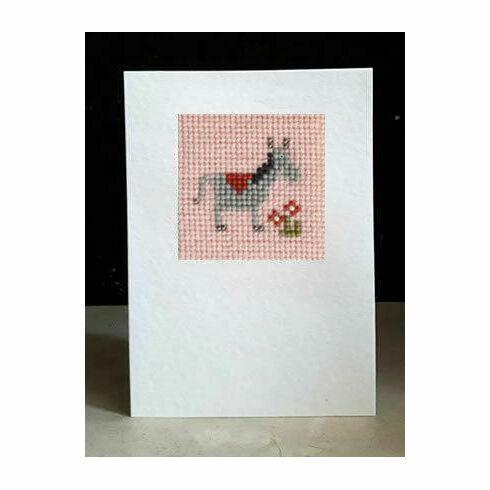 Delilah The Donkey Mini Beadwork Embroidery Card Kit