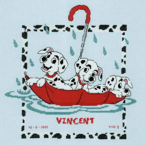 Disney Dalmatians Birth Sampler Cross Stitch Kit