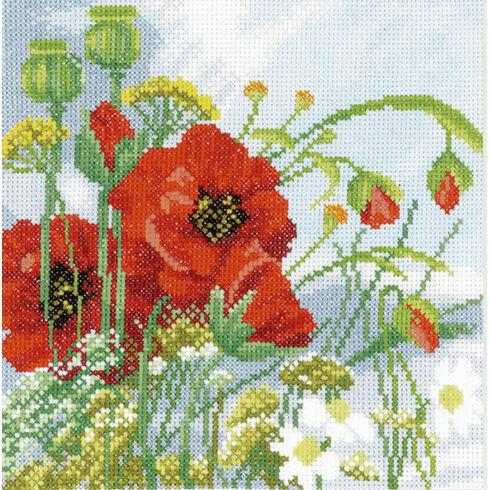 Beautiful Poppies Cross Stitch Kit