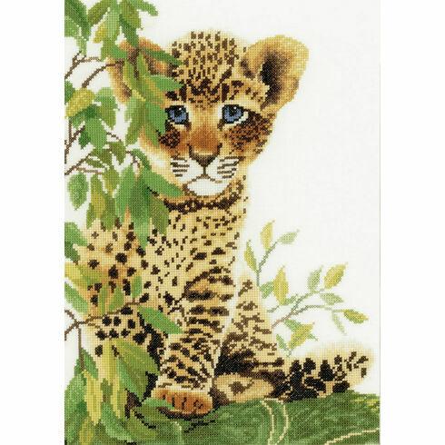 Little Panther Cross Stitch Kit