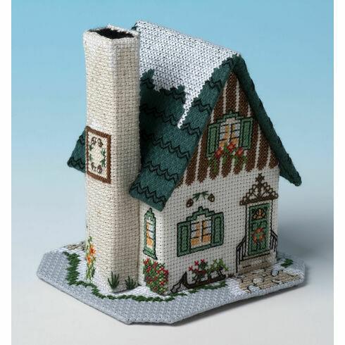 Pine Cone Cottage 3D Cross Stitch Kit