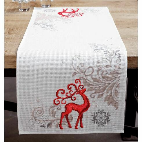 Reindeer Table Runner Cross Stitch Kit
