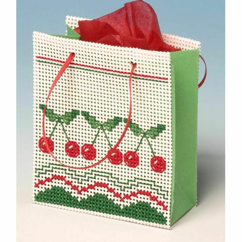 Cherries Gift Bag 3D Cross Stitch Kit