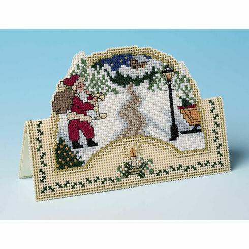 This Way Santa 3D Cross Stitch Christmas Card Kit