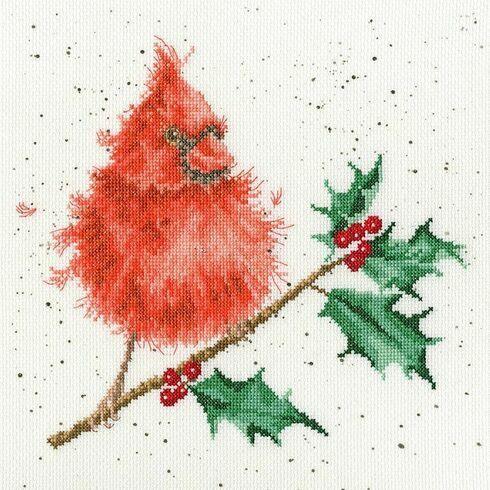 Festive Feathers Cross Stitch Kit