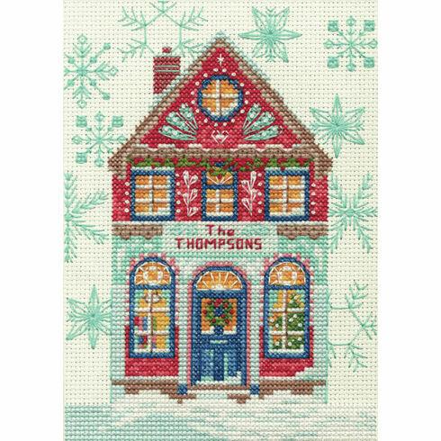 Holiday Home Cross Stitch Kit