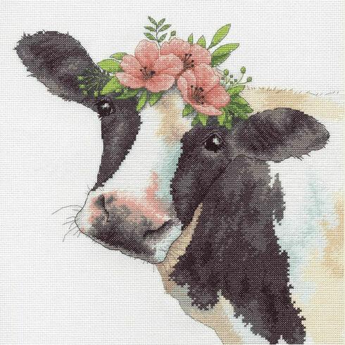 Sweet Cow Cross Stitch Kit