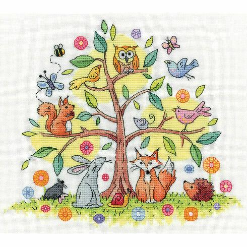 Tree Of Life Cross Stitch Kit By Karen Carter