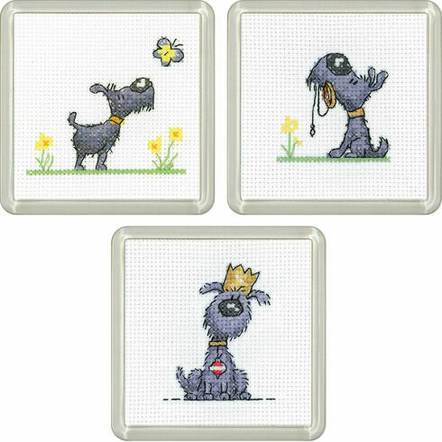 Golden Years Coasters Set Of 3 Cross Stitch Kits