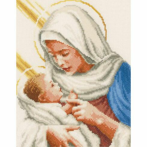 Maria And Jesus Cross Stitch Kit