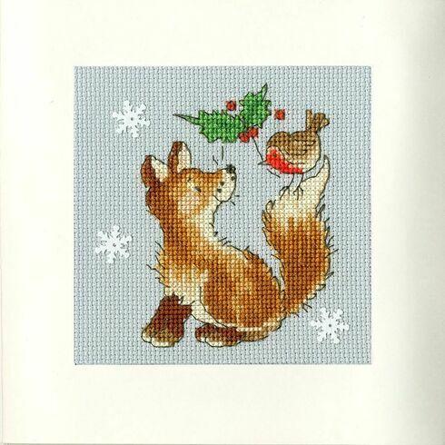 Christmas Friends Cross Stitch Card Kit