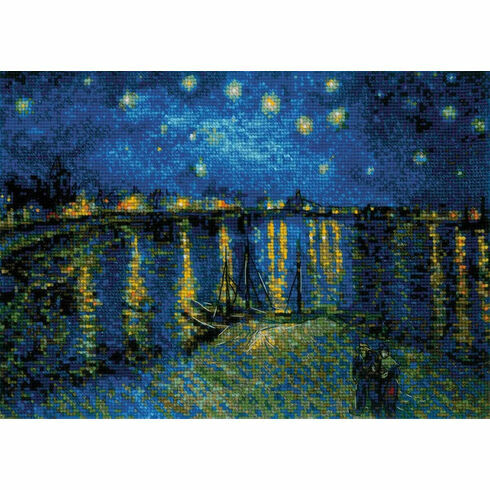 Van Gogh - Starry Night Over The Rhone Cross Stitch Kit