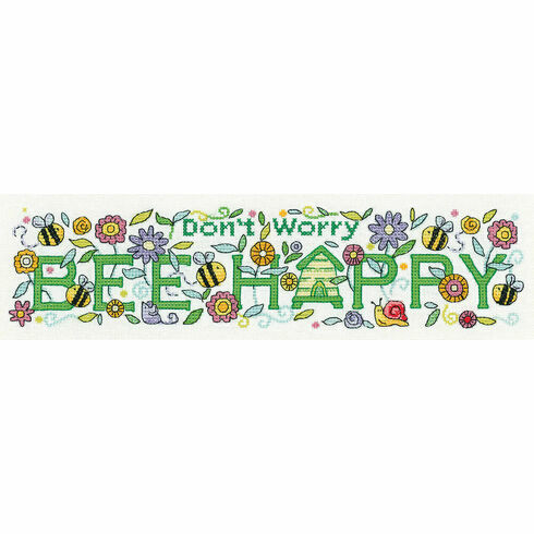 Bee Happy Cross Stitch Kit by Heritage Crafts