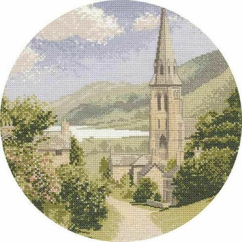 Lakeside Village Cross Stitch Kit by John Clayton