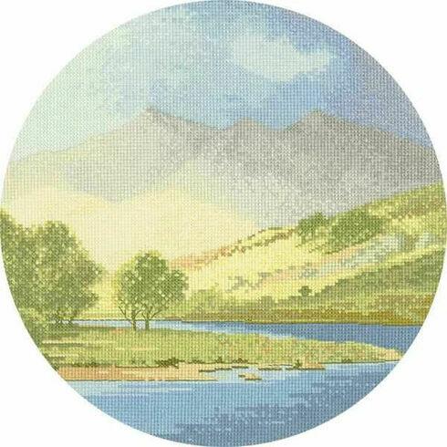 Mountains And Lake Cross Stitch Kit