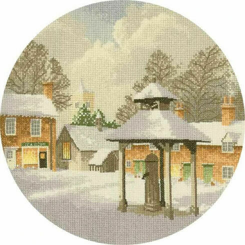 Winter Village Cross Stitch Kit