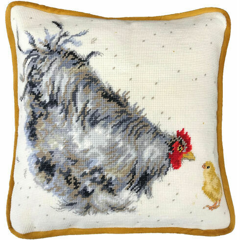 Mother Hen Cushion Panel Tapestry Kit