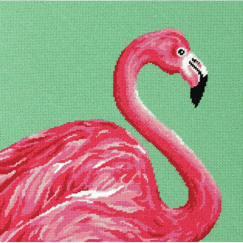 Pink Flamingo Tapestry Kit