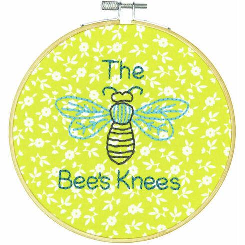 The Bees Knees Embroidery Hoop Kit