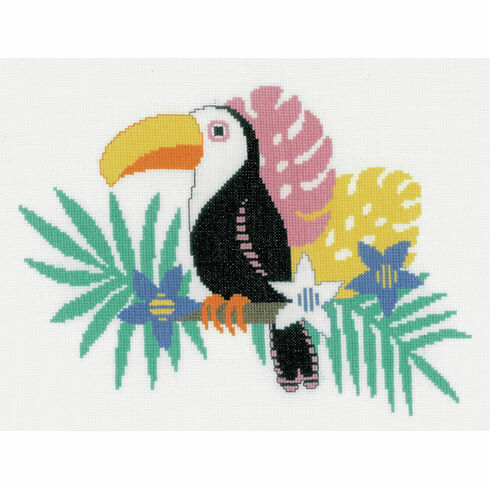 Bright Toucan Cross Stitch Kit