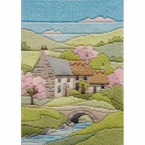 Spring Cottage Long Stitch Kit