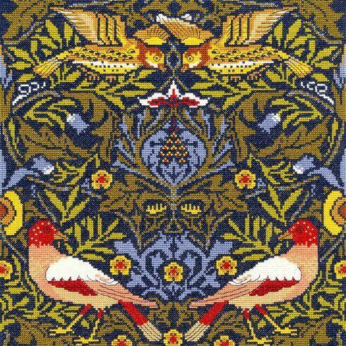 William Morris Bird Cross Stitch Kit