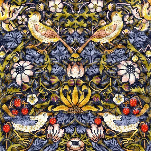 William Morris Strawberry Thief Cross Stitch Kit