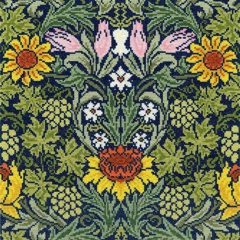 William Morris Sunflowers Cross Stitch Kit