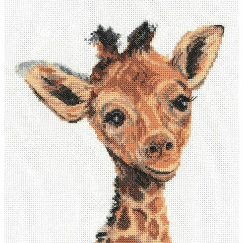 Baby Giraffe Cross Stitch Kit by Martha Bowyer