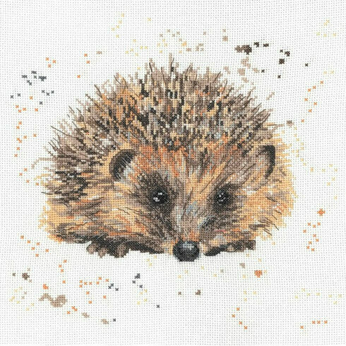 Harley The Hedgehog Cross Stitch Kit by Bree Merryn