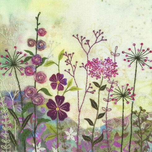 Purple Garden Embroidery Kit