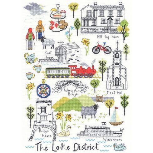 Love The Lakes Cross Stitch Kit