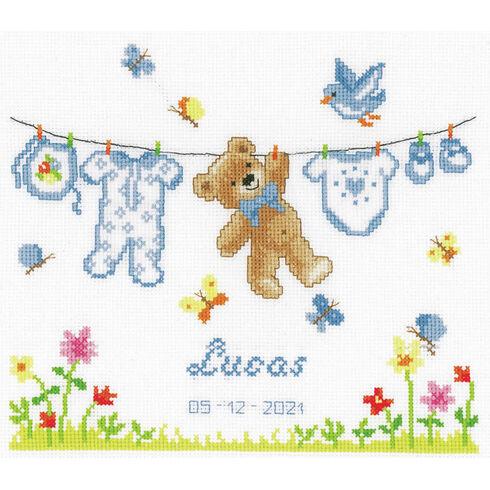 Birth Bear Cross Stitch Kit