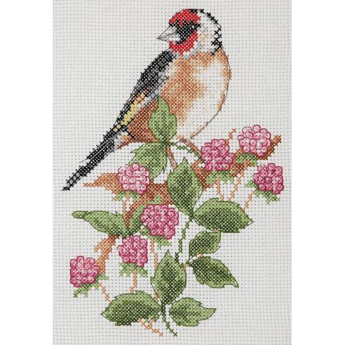 Goldfinch & Berries Cross Stitch Starter Kit