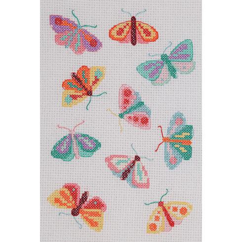 Moths & Butterflies Beginners Cross Stitch Kit