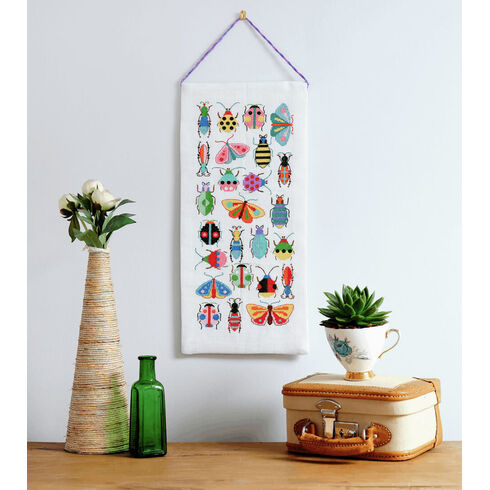 Bugs & Moths Wall Hanging Cross Stitch Kit