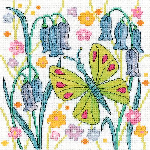 Green Butterfly Cross Stitch Kit