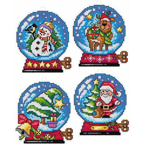 Christmas Snow Globe Cross Stitch Ornaments Kit